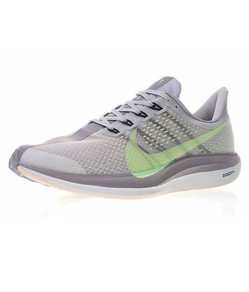 3058ce2809d ... Nike Air Zoom Pegasus 35 Turbo 2 2019 Running Shoes Gray For Gym Wear  ...