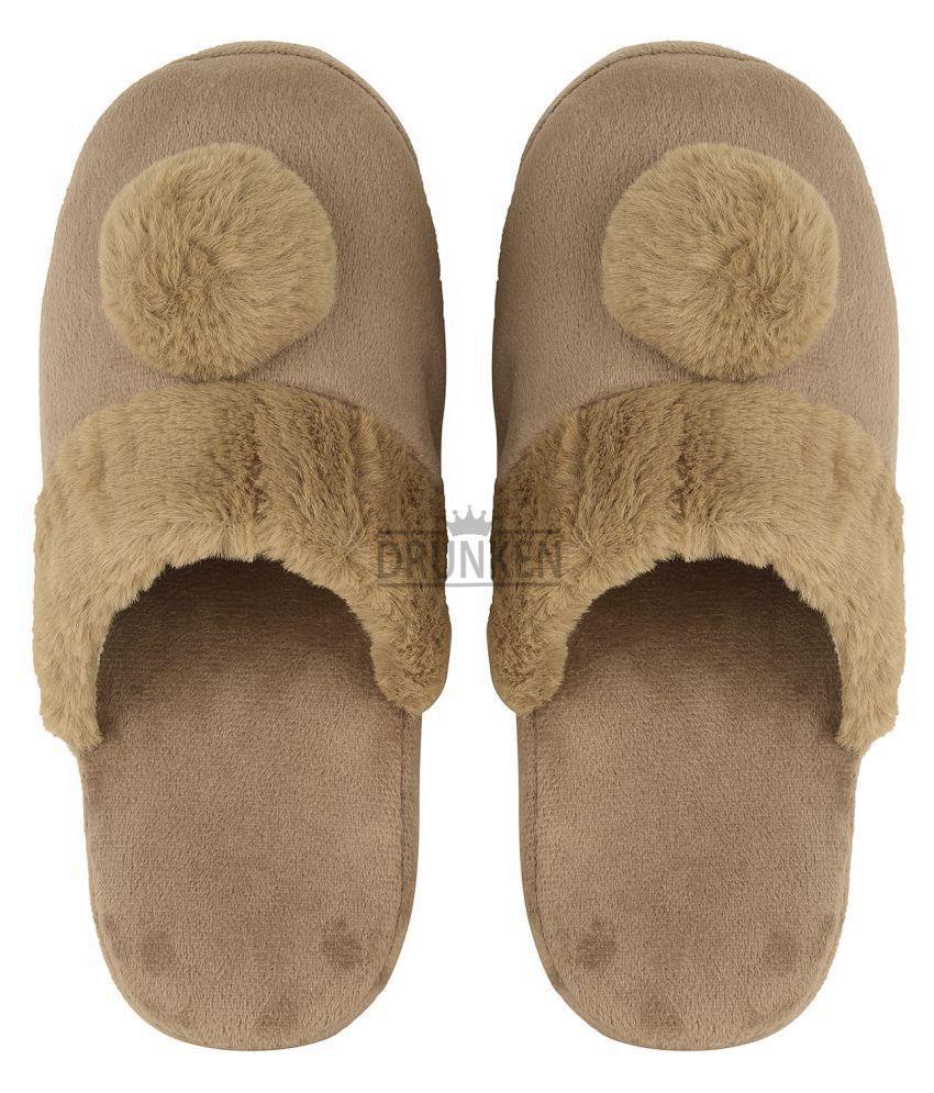 DRUNKEN Brown Slippers