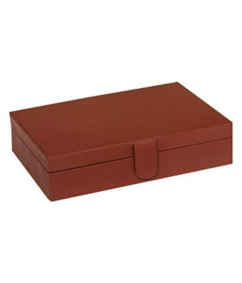 ed49aaab4 Leather World Brown Watch Box Case - Buy Leather World Brown Watch ...