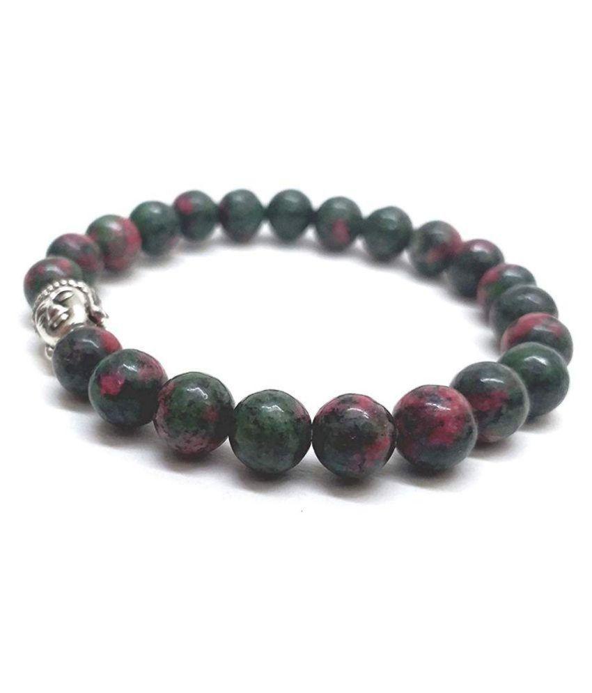 Ruby fuchsite 8 mm Buddha Powered Stretch Bracelet