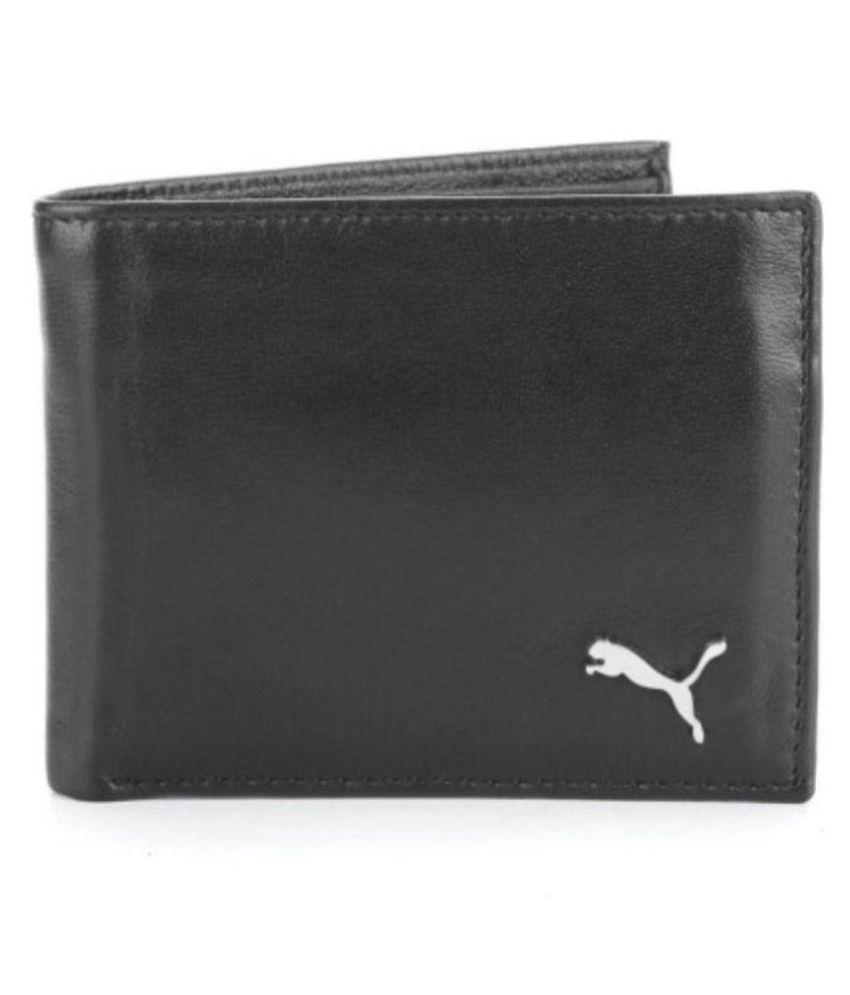 Puma Leather Black Casual Money Clipper