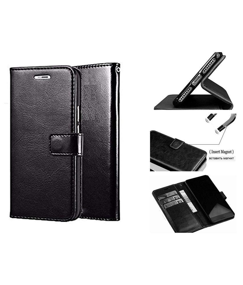 Sony Xperia Z5 Premium Flip Cover by NKARTA - Black