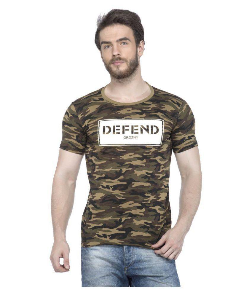 Tinted Green Half Sleeve T-Shirt
