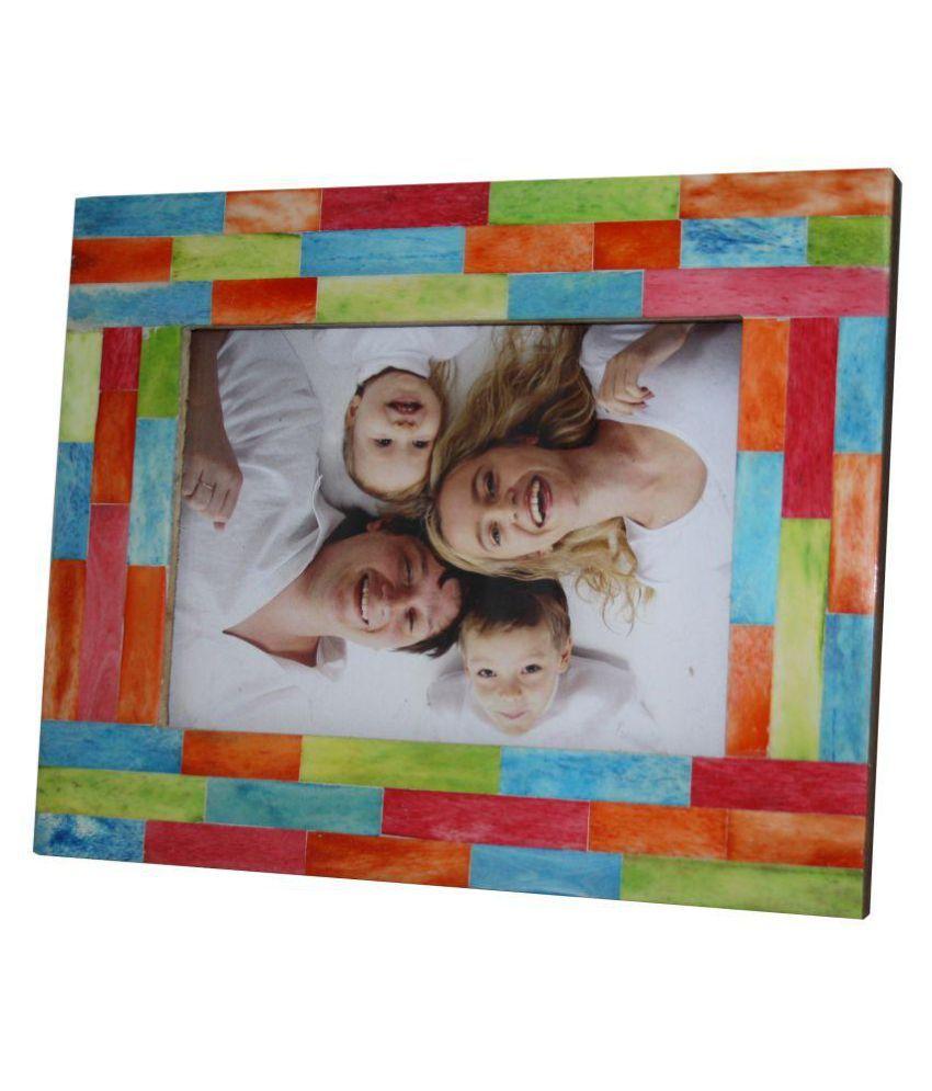 VARA  DECOR Wood TableTop Multicolour Single Photo Frame - Pack of 1