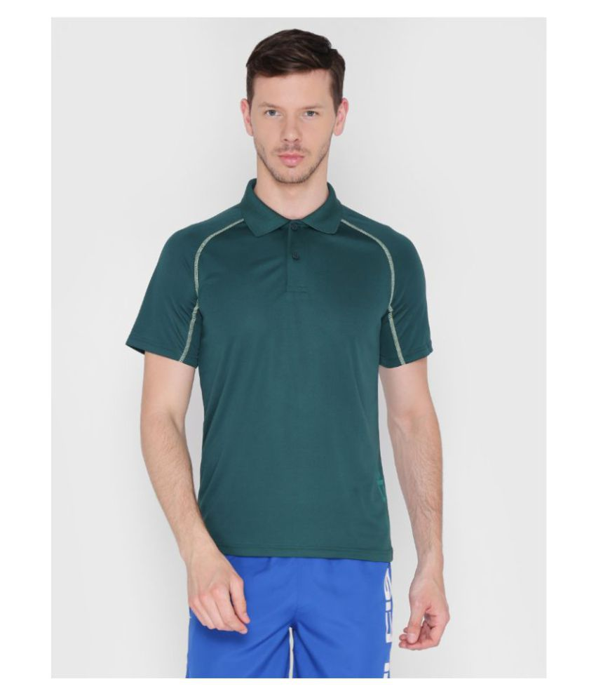 Alcis Olive Green Polyester Polo T-Shirt Single Pack