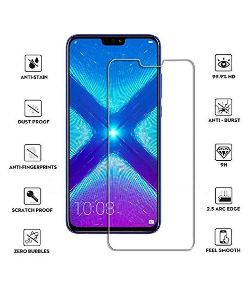 Honor 8X Tempered Glass Screen Guard By SHRINO Tempered Glass Screen  Protector for Honor 8X