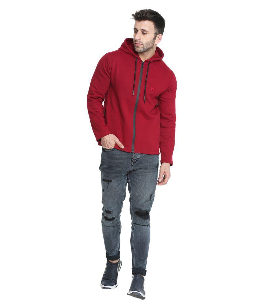 CHKOKKO Winter Wear Cotton Full Sleeves Hooded Zipper Jacket Sweatshirt Hoodies for Mens