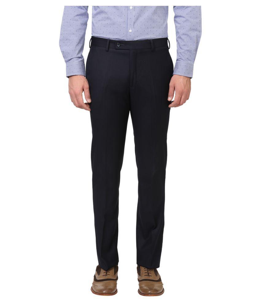 Colorplus Blue Slim -Fit Flat Trousers