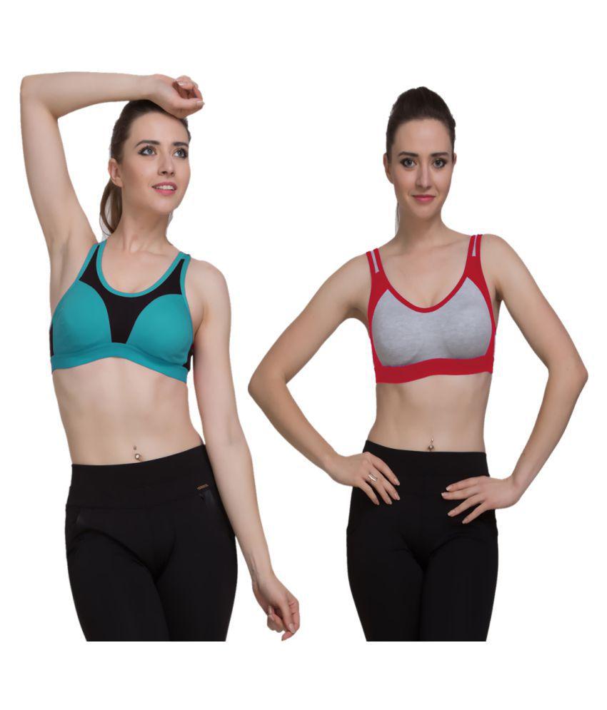 FRESH LOOK LINGERIE Cotton Sports Bra - Multi Color