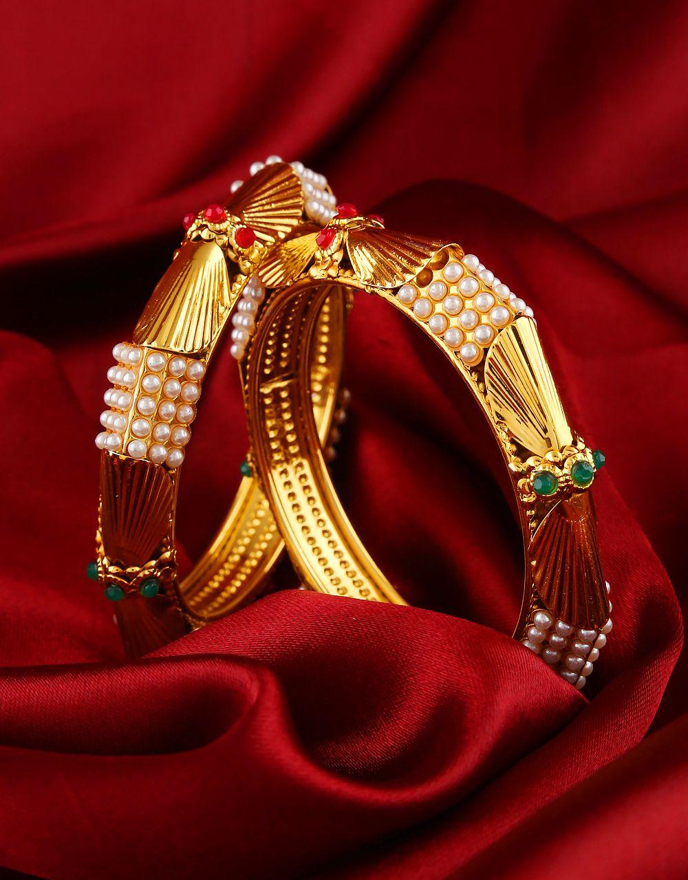 Anuradha Art Maroon Colour Classy Studded Shimmering Stone Wonderful Ethnic Bangles Set for Women//Girls