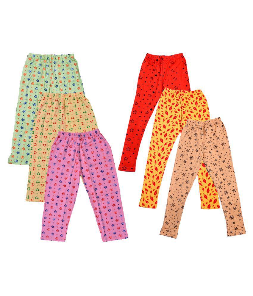 IndiWeaves Girls Cotton Pyjama/Lower and Leggings (Pack of 6)