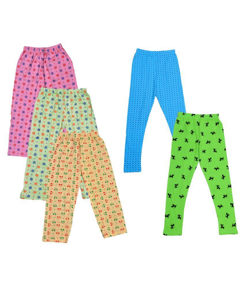 KAYU Girls Cotton Pyjama/Lower and Leggings (Pack of 5)