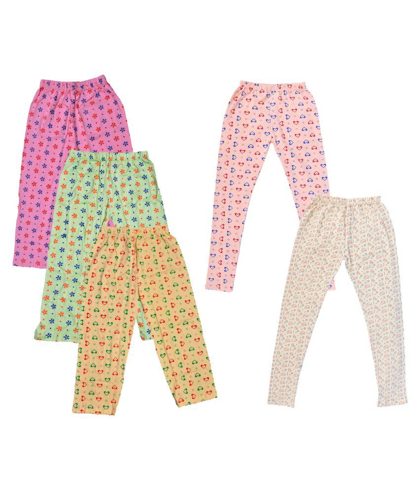 KAYU Girls Cotton Pyjama/Lower and Leggings (Pack of 5)