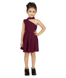 76d00e494b3 Quick View. Addyvero Girls One Shoulder Maroon Partywear Girl Dress
