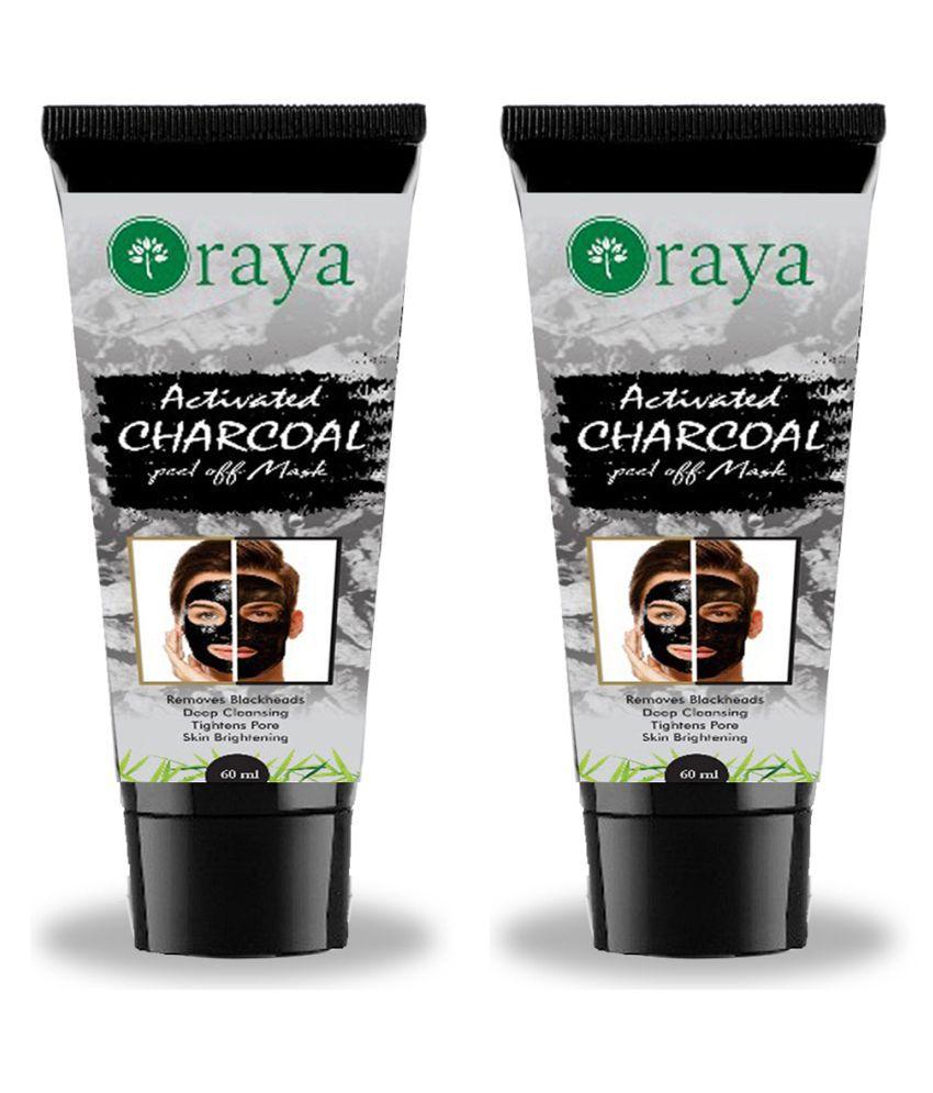 ORAYA Blackheads Removal & For Skin Brightening Charcoal Face Peel Masks  120 ml