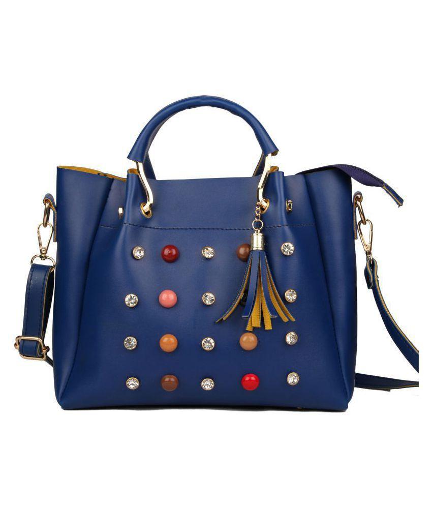 Johan&keith Blue Faux Leather Sling Bag