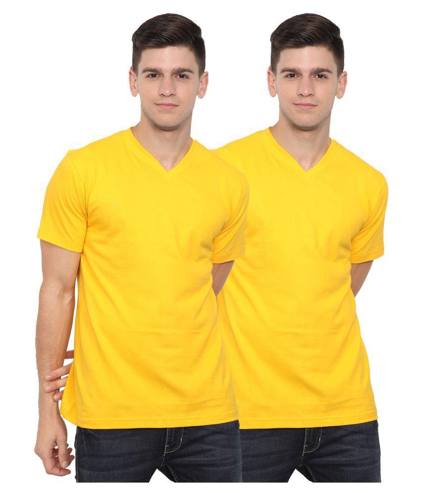 OJASS Multi Half Sleeve T-Shirt Pack of 2