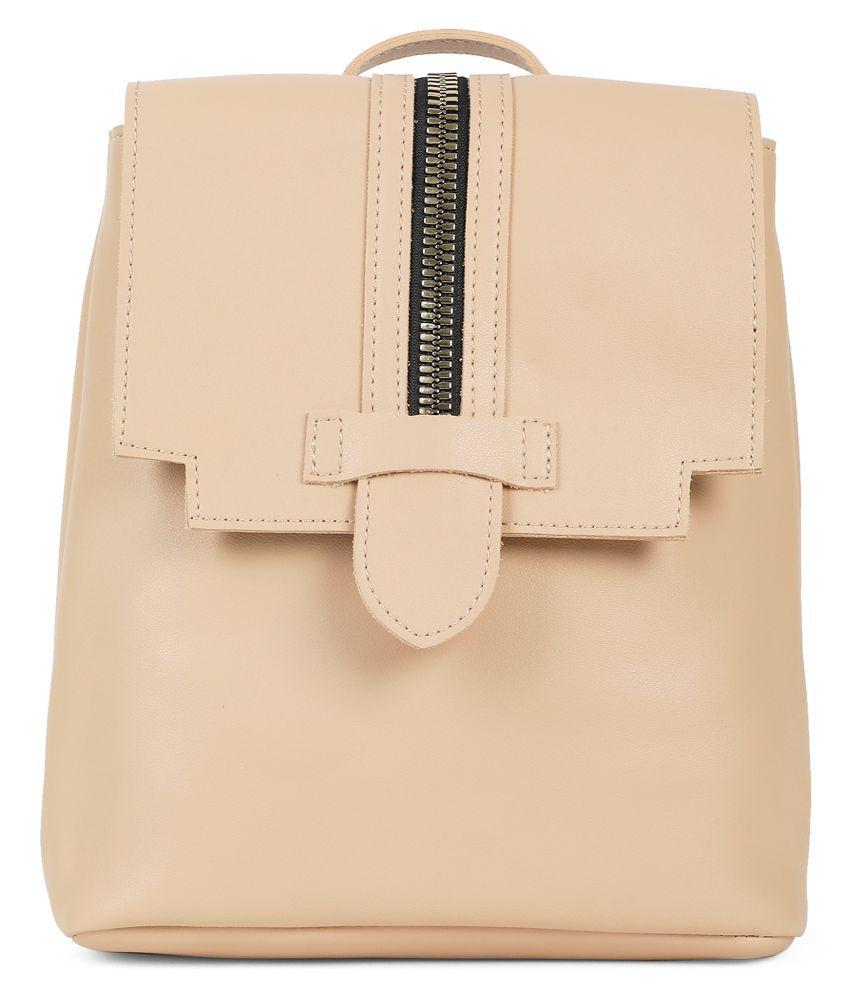Kielz Beige Synthetic Casual Messenger Bag
