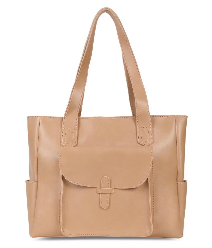 Kielz Brown Synthetic Casual Messenger Bag