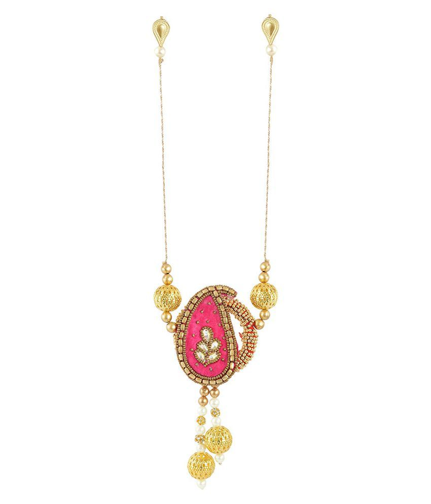 Unique Indian Crafts Stone and Pearl Bajubandh for Women (SE-UIC-64)