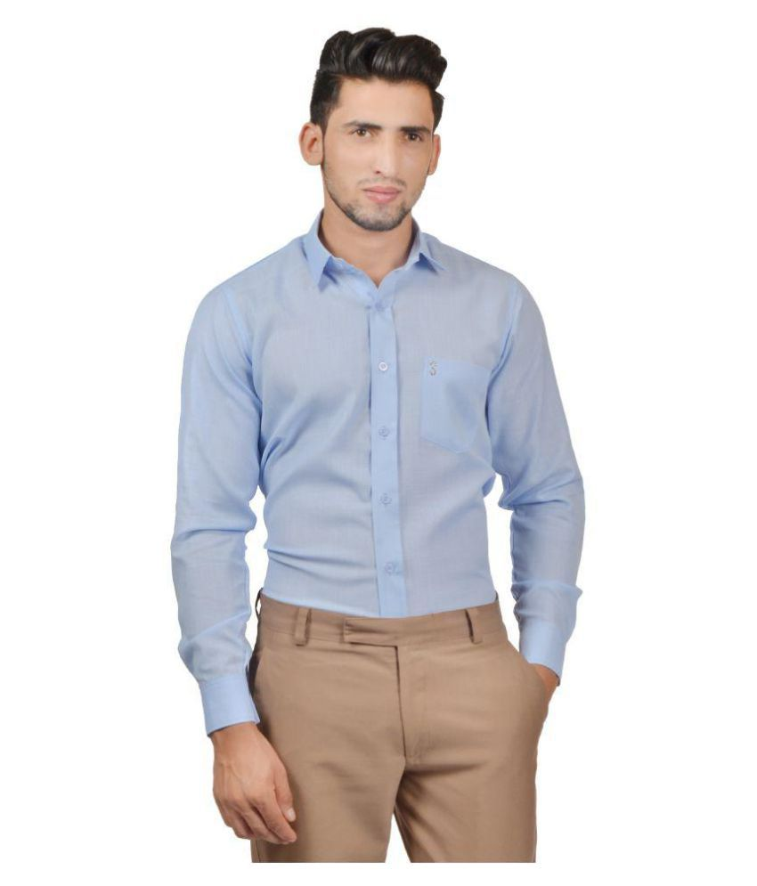 79ac642dde S9 Men Blue Slim Fit Formal Shirt - Buy S9 Men Blue Slim Fit Formal Shirt  Online at Best Prices in India on Snapdeal