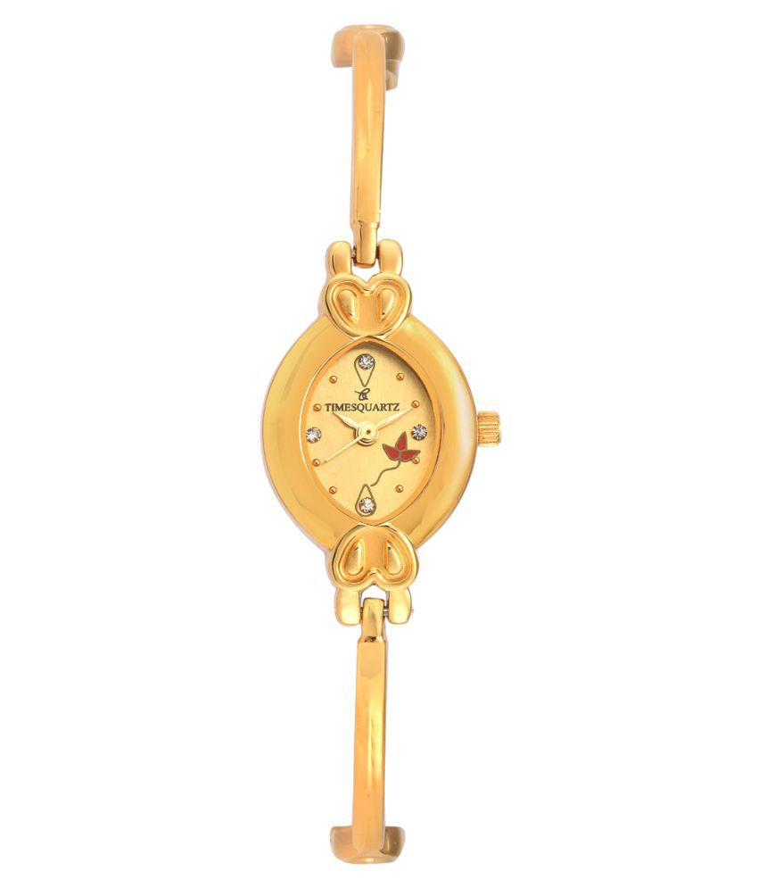 Timesquartz Metal Oval Womens Watch