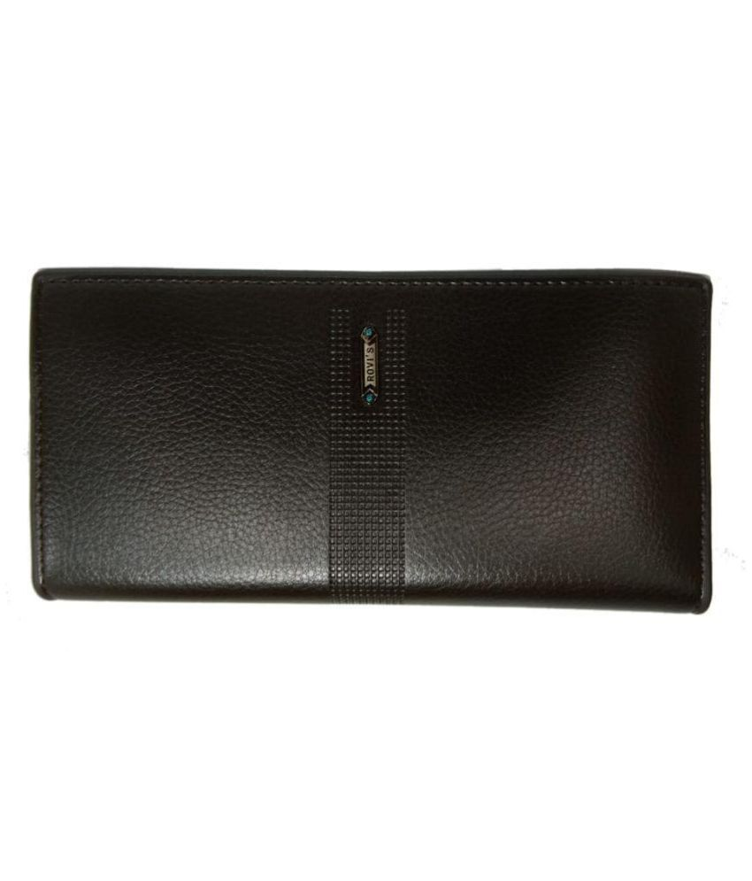abdullah telecom Brown Faux Leather Box Clutch