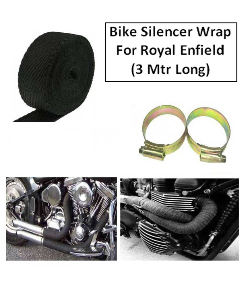 Royal Enfield / Bullet 350 / 500x / Classic Exhaust Silencer Wrap for heat  protection / Heat Shield - 3Mtr - Black