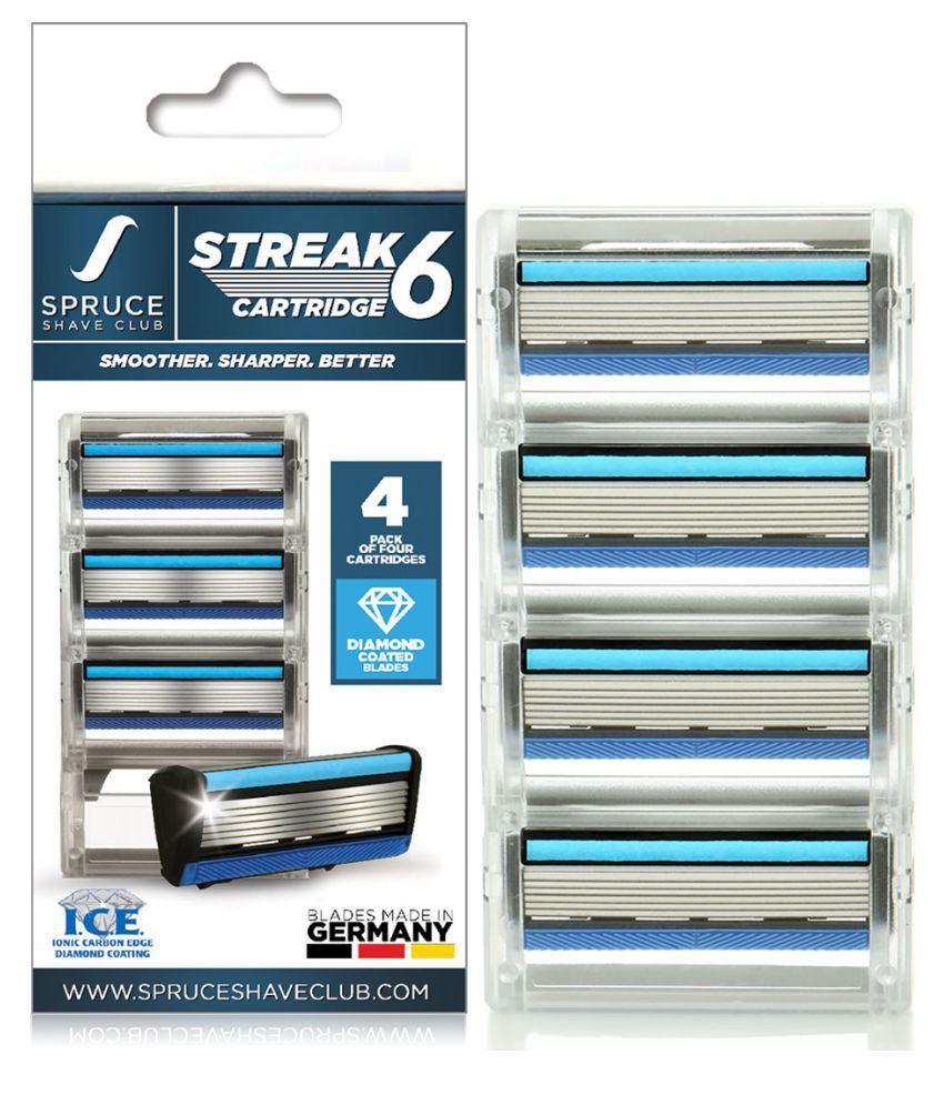 Spruce Shave Club Streak6 Shaving Cartridges (Pack of 4) 4 Cartridges Pack of 4