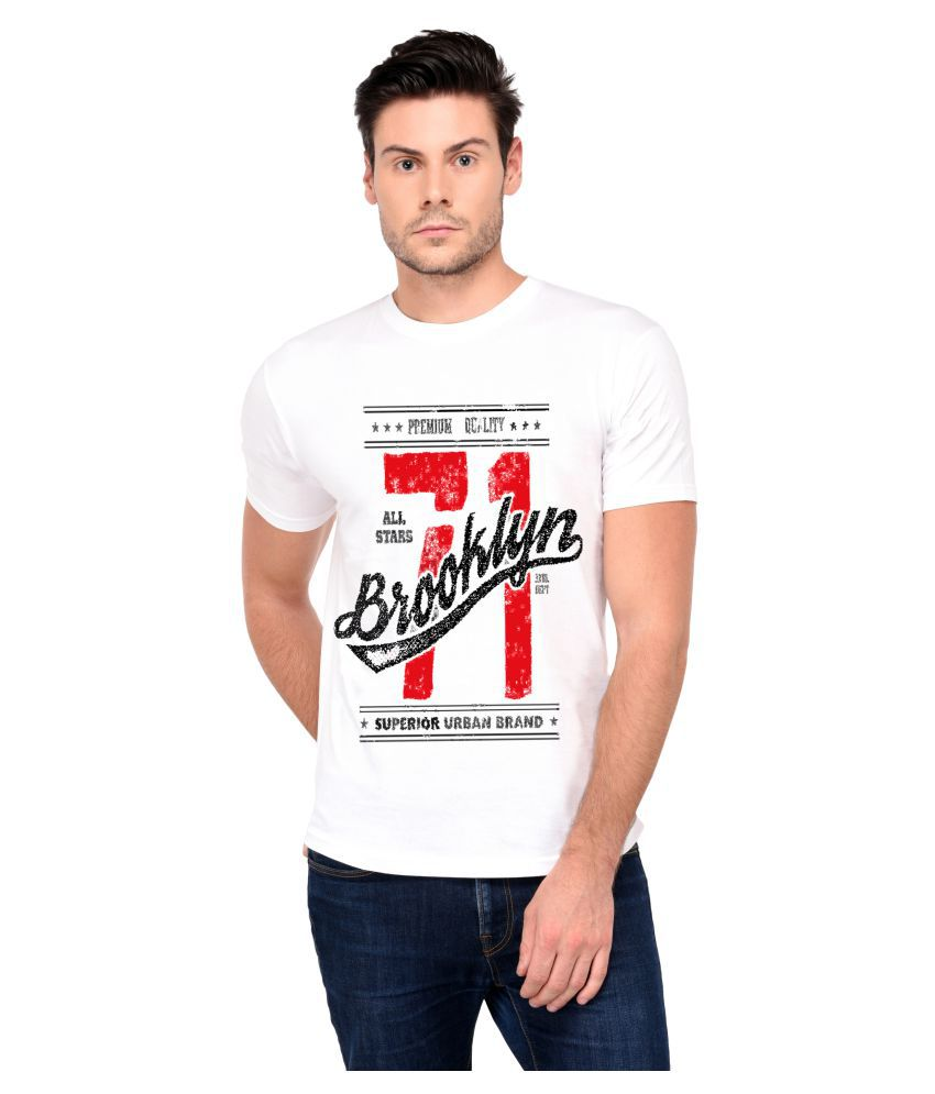 Trends Tower White Half Sleeve T-Shirt Pack of 1