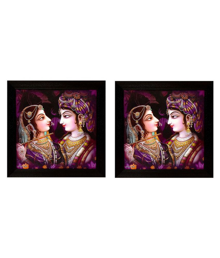 Gallery99 Purple Radha Krishna Canvas Painting With Frame