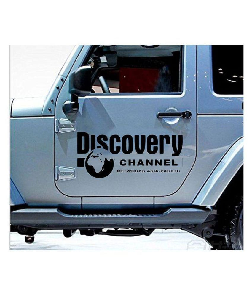Khirki Discovery Channel Car Decals & Stickers Black