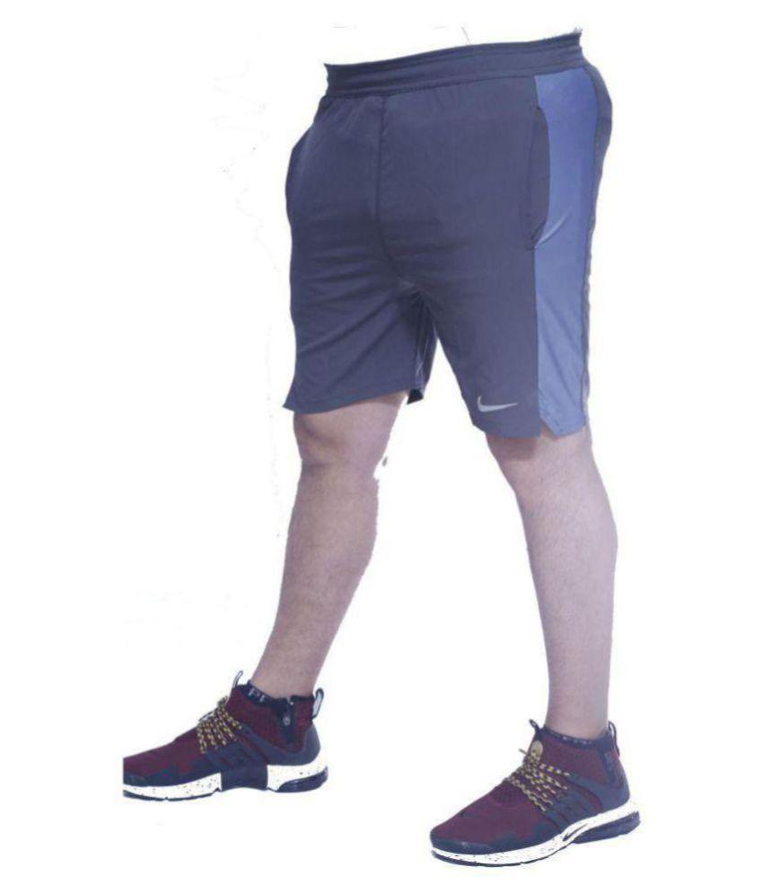 NIKE AS Cllgr Running Grey Shorts