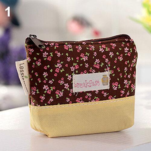 Purses Fabric Canvas Mini Floral Shoulder Bag Women Cheap Coin Purse Pouch