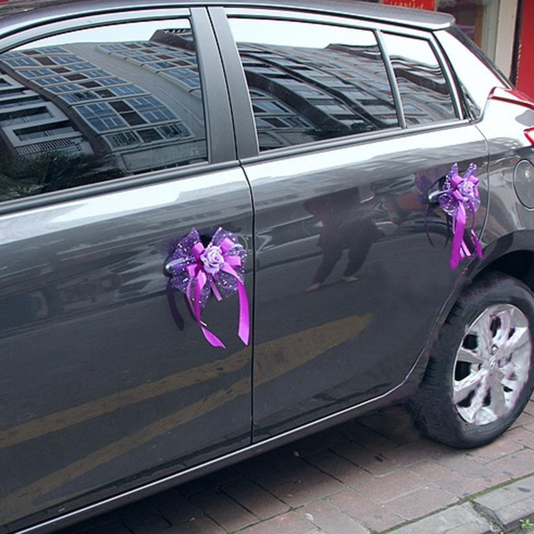 New Wedding Car Decoration Door Handles Rearview Mirror Diy