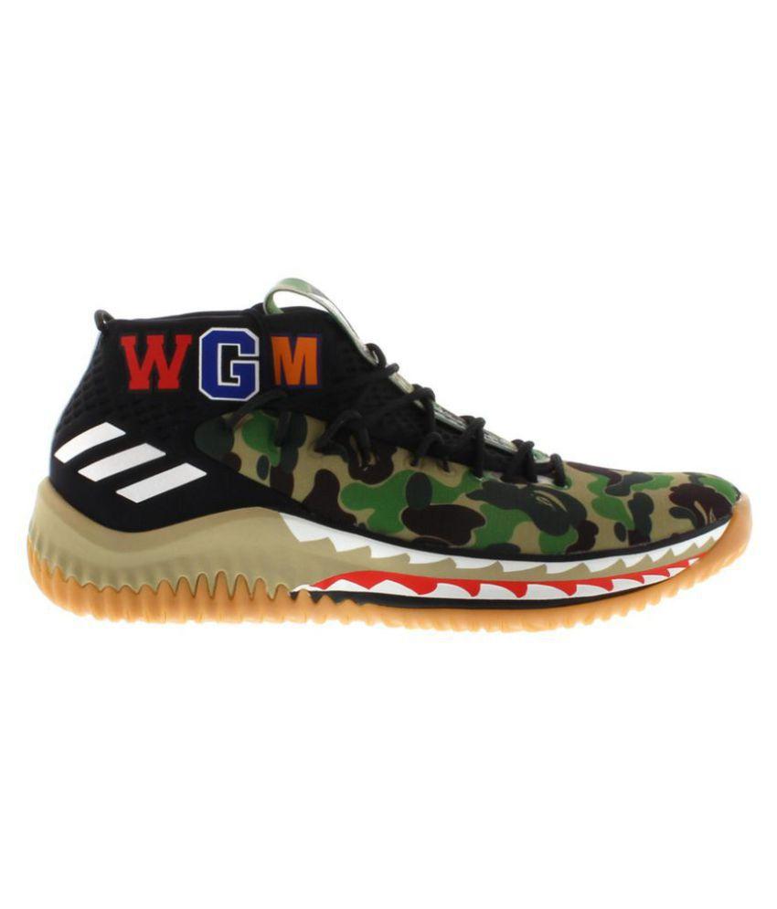 online store fb082 f846e Adidas ORIGNAL'S DAME 4 BAPE 2019 Running Shoes Green