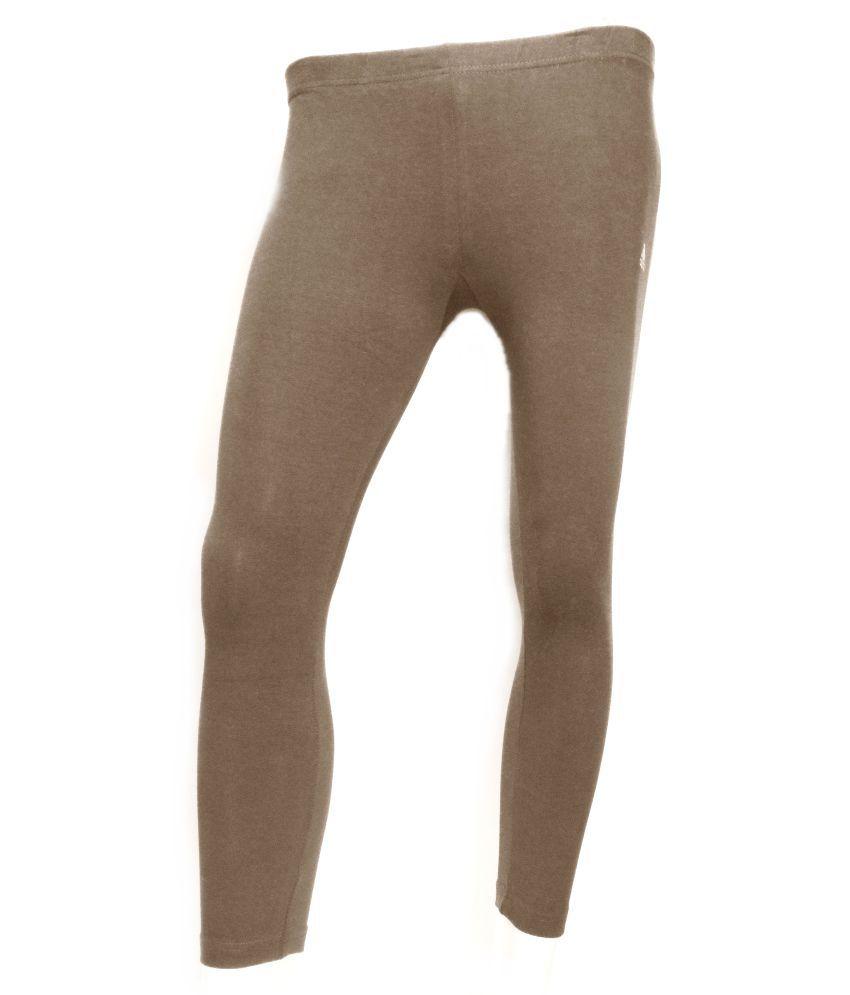 Adidas Cotton Lycra Tights - Brown