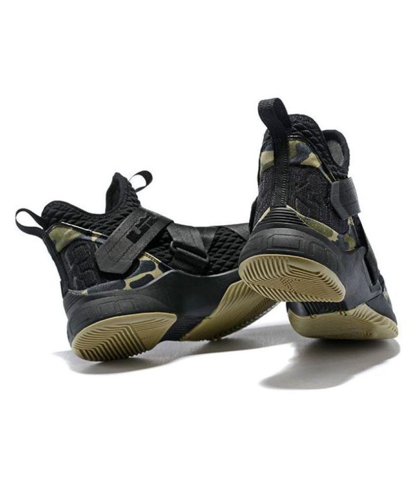 3503901acc5f Nike Nike Lebron Soldier 12 Black Military Low ankle Male Black  Buy Online  at Best Price on Snapdeal