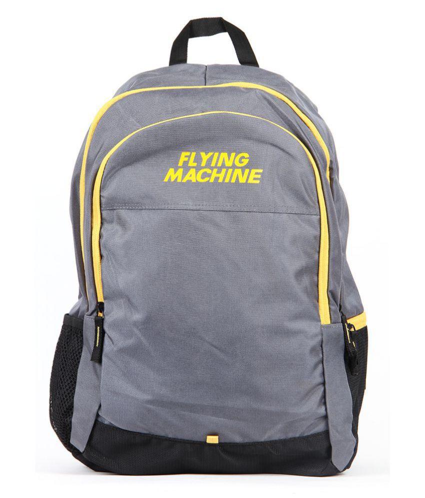 Flying Machine Grey Laptop Bags