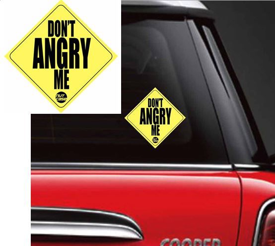 Nutcase Don't Angry Me Car Decals & Stickers (6 5 x 6 5 Inch)