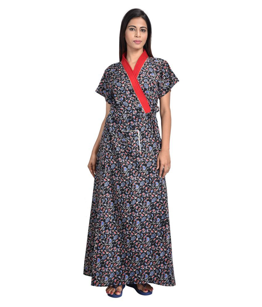 Piyali's Creation Crepe Nighty & Night Gowns - Multi Color