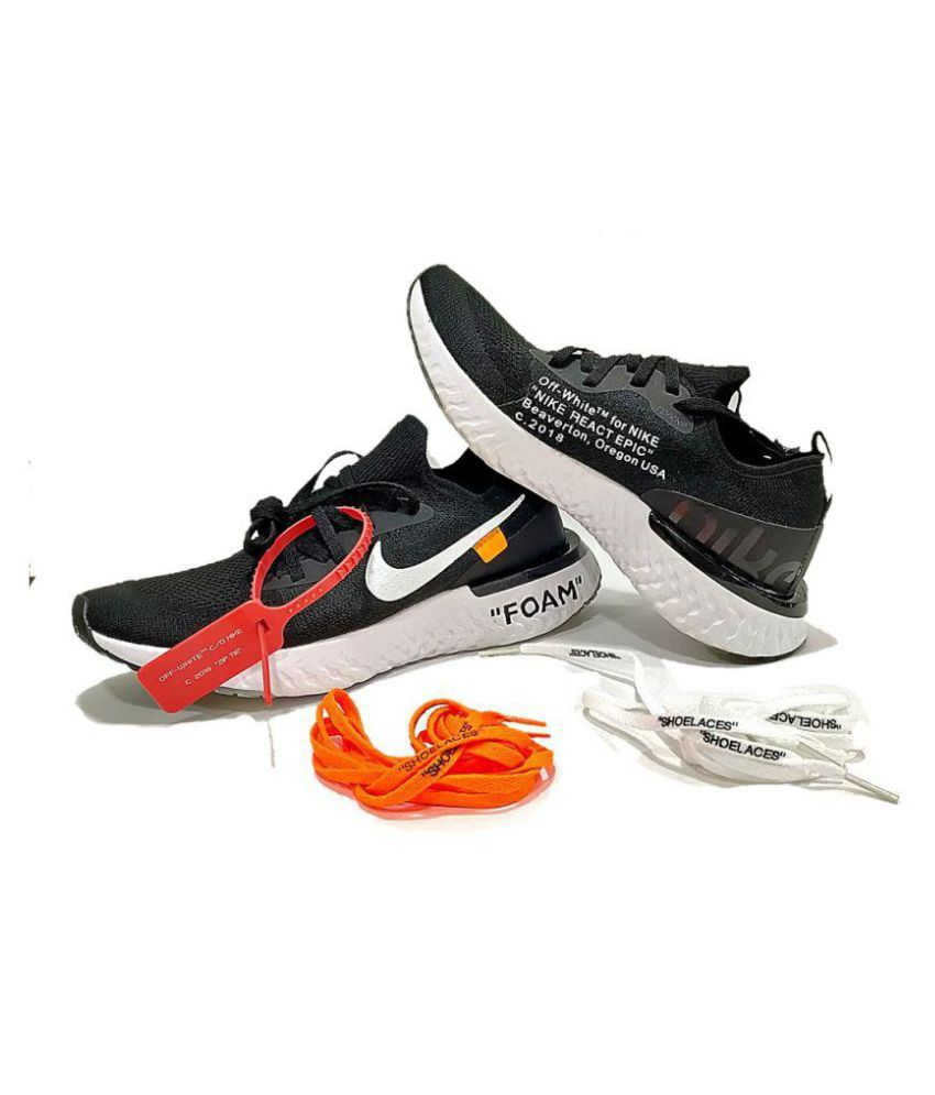 292ed20db850e nike epic react flyknit shoes Black Running Shoes - Buy nike epic ...