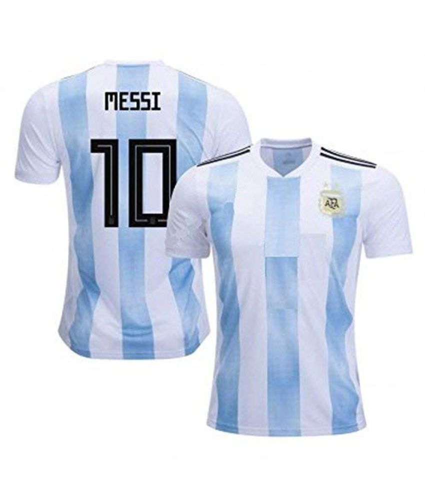 best sneakers e9f9b 5bb89 Argentina t Shirt 2018 World Cup White/Blue(Argentina Jersey Messi Messi  Tshirt