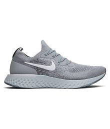 Nike EPIC REACT FLYKNIT Silver Running Shoes