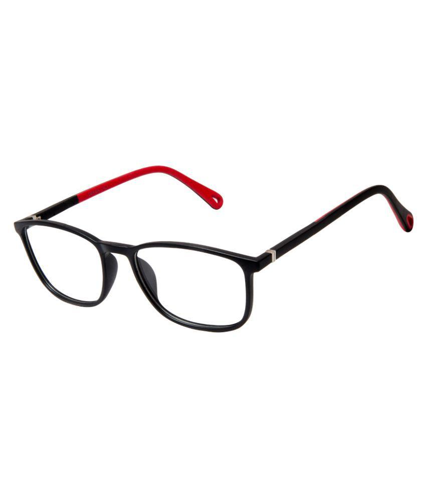Cardon Matte Black Rectangular Full Rim EyeFrame for Kids