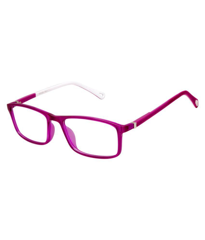 Cardon Purple Rectangular Full Rim EyeFrame for Kids