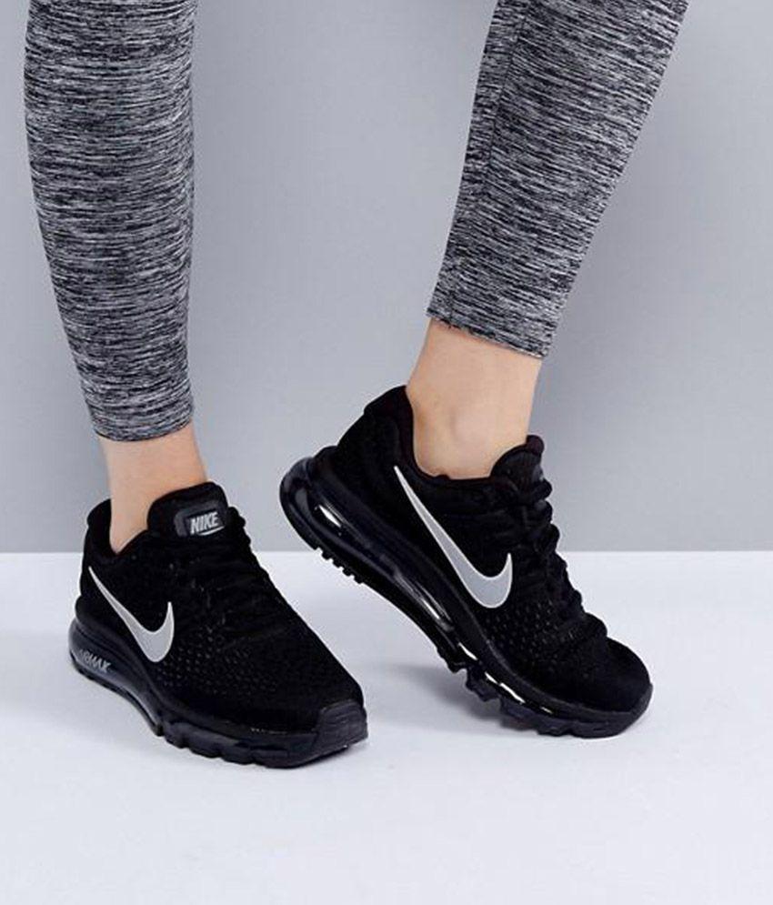 pretty nice 4c410 b8c28 Nike Air Max 2017 Black Running Shoes