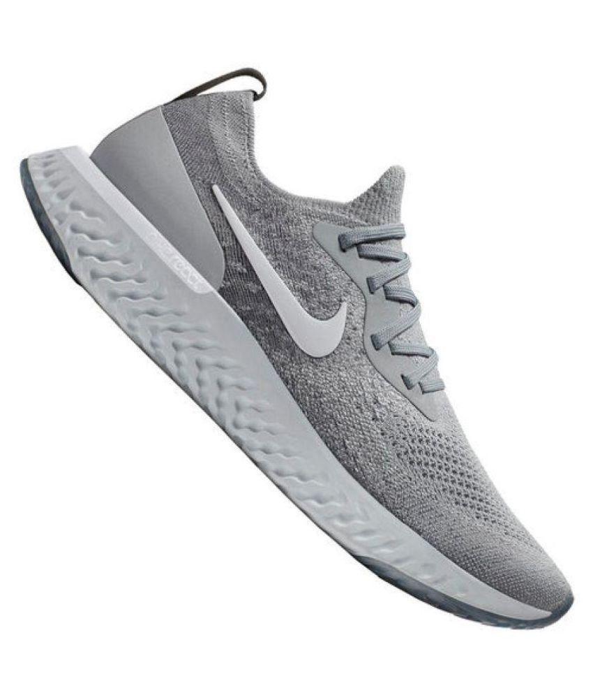sale retailer 1275b 3f38c ... Nike EPIC REACT FLYKNIT Grey Running Shoes ...