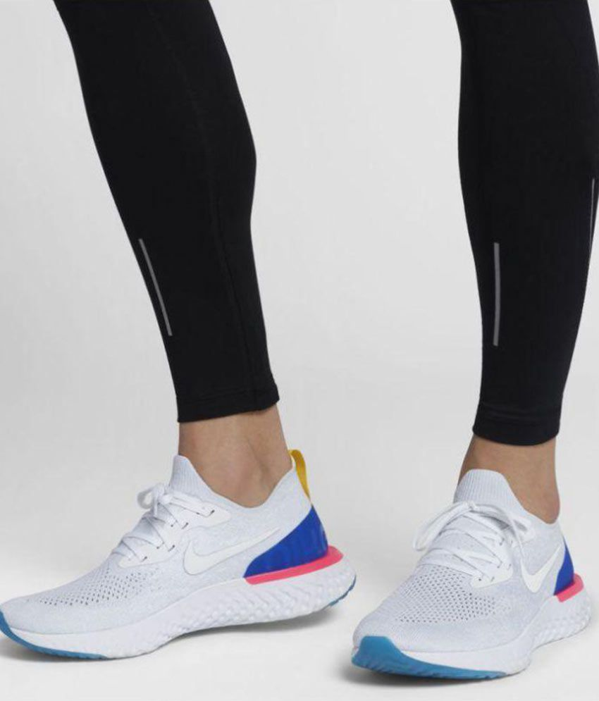 f9c106bbe2 Nike Epic React Flyknit White Running Shoes - Buy Nike Epic React Flyknit  White Running Shoes Online at Best Prices in India on Snapdeal