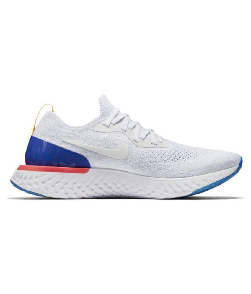 b756a6654268a Nike Epic React Flyknit White Running Shoes - Buy Nike Epic React ...